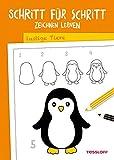 Schritt für Schritt Zeichnen lernen. Lustige Tiere: Die neue Zeichenschule ab 6 Jahren (Malbücher und -blöcke)