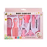 HEMO 10 Stück Babypflege Set Baby Pflegeset Neugeborene Babypflegeset Baby Grooming Kit Babypflegezubehör Kinderbetreuungsset für Neugeborenes Kleinkind