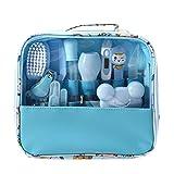 Moonvvin Babypflege Kit 13 teile/satz Neugeborenen Pflegen Set Wesentliche Healthcare Zubehör für Reisen Heimgebrauch mit Tragetasche (Blau)