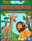 Malbuch Tiere für Kinder: Ausmalbuch für Mädchen und Jungen ab 4 Jahren