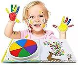 Lustiges Finger-Mal-Set, Abwaschbar Kinder Fingerfarben mit Malbuch Spielzeug Schlammmalerei Kinder Early Learning Toy, Geschenk für Kindertag, Geburtstag(6 Farben) (klein-18CM)