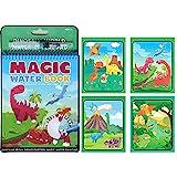 Autoau Magisches Wassermalbuch, wiederver wendbares Malbuch mit Magic Water Aqua Pens für Kinder über 3 Jahre Doodle Toy,Reiseaktivitäten, Spielzeug Dinosaurier, Durchschlagbuch für Kinder