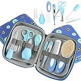 LaceDaisy Babypflege Set, Baby Erstausstattung Pflegeset, 9Pcs Baby Healthcare Kit, Babypflegeset für Neugeborene, Säugling, Kleinkind Gesundheit und Pflege Leicht zu tragen (Blau)