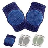 Baby Krabbel Knieschoner, Knieschoner Baby, Knieschoner Baby Stulpen Anti-rutsch verstellbarer Protektor für Kleinkinder, 3 Paare